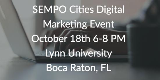 SEMPO Cities Digital Marketing Even